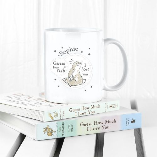 Personalised Guess How Much I Love You Sitting Little Nutbrown Hare Mug